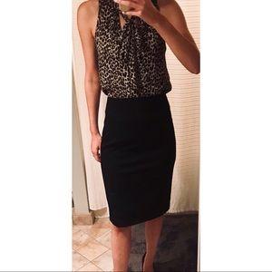 Express High Waisted Black Skirt